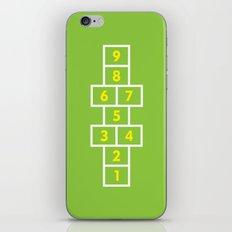 Hopscotch Green iPhone & iPod Skin
