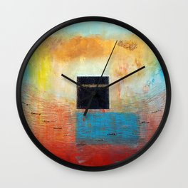 Of the Earth 1 by Nadia J Art Wall Clock