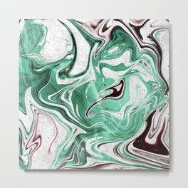Absinthe Marble Metal Print