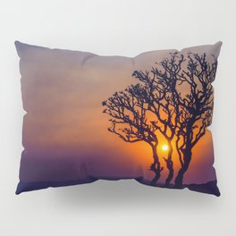 A Sunset Silhouette in Hampi, India Pillow Sham