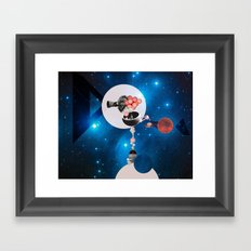 Space Flight Framed Art Print