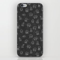 Indian Baby Elephants Blackout iPhone & iPod Skin