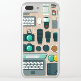 Photographer's Workspace Clear iPhone Case