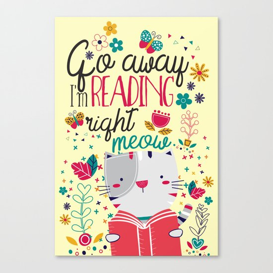 Reading Right Meow Canvas Print