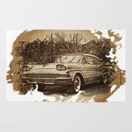 Ford Fairlane Vintage Automobile Rug