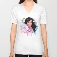 bjork V-neck T-shirts featuring Bjork by Will Costa