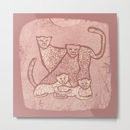 Family Cheetahs Metal Print
