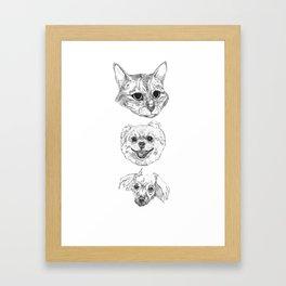 holy trinity Framed Art Print
