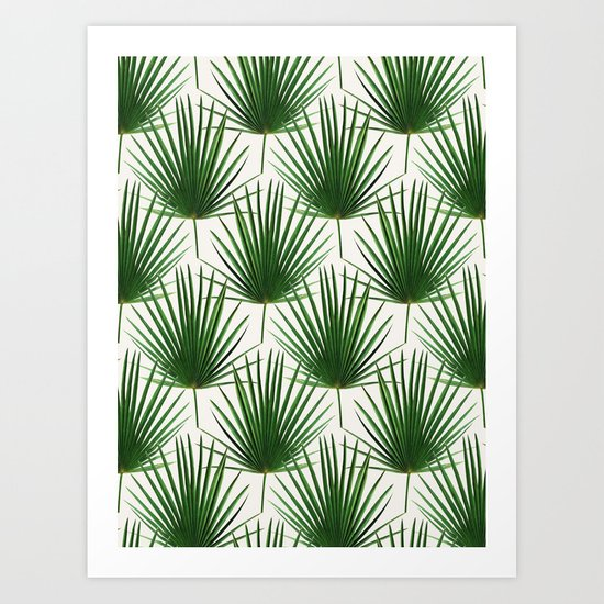 Simple Palm Leaf Geometry Art Print