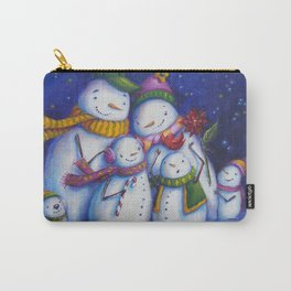 Snow Family Portrait Carry-All Pouch