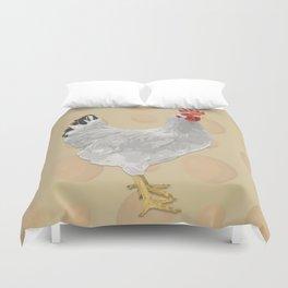 White Fowl Duvet Cover