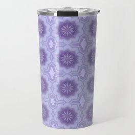 Pretty Floral Pattern in Lavender Travel Mug