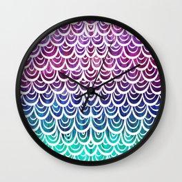 Watercolor Mermaid Alexandrite Wall Clock