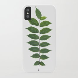 Green Leaf Botanical Print iPhone Case