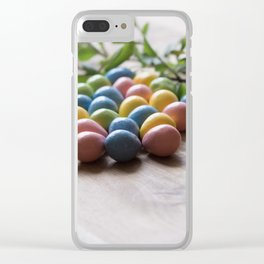 Easter Eggs 15 Clear iPhone Case