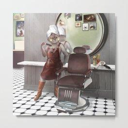 Barber Shop Metal Print