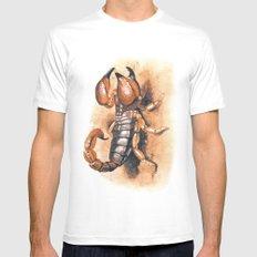 scorpion White MEDIUM Mens Fitted Tee