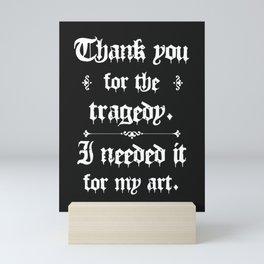 Thank You For The Tragedy   Kurt Cobain Mini Art Print