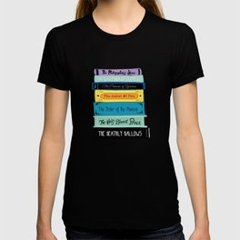 Hogwarts Stack of Wizardly Books T-shirt