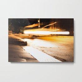 Flying Taxi Metal Print