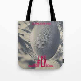 The Fly, horror movie poster, David Cronenberg, Jeff Goldblum, alternative playbill Tote Bag
