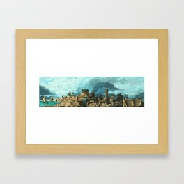 Ancient World Metropolis Framed Art Print