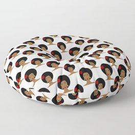 I love my afro hair Floor Pillow
