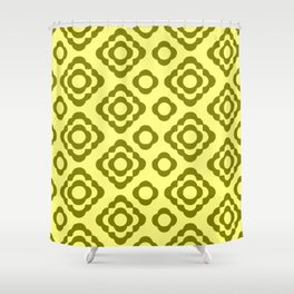 Floral No. 1 -- Yellow Shower Curtain