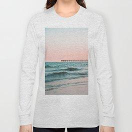 Beach Pier Sunrise Long Sleeve T-shirt