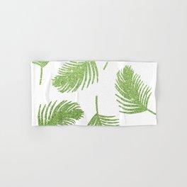 Glitter Palm Leaves Hand & Bath Towel