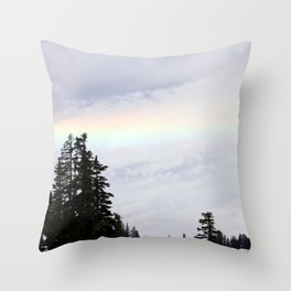 Mountaintop Rainbow Throw Pillow
