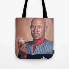 Captain Sisko - Portrait Painting Tote Bag