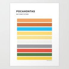 The colors of - Pocahontas Art Print