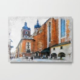 Cracow art 1 #cracow #krakow #city Metal Print