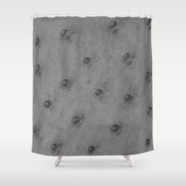 Ostrich leather effect (light grey) Shower Curtain