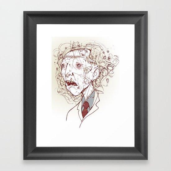 DR. Framed Art Print