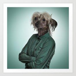 Chinese hairless crested dog Art Print