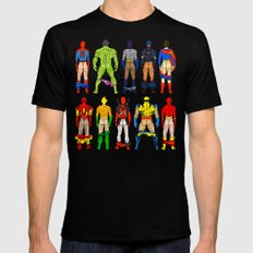 Superhero Butts MEDIUM Mens Fitted Tee Black