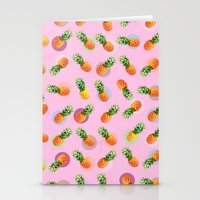 pineapple Stationery Cards featuring pineapple by mark ashkenazi