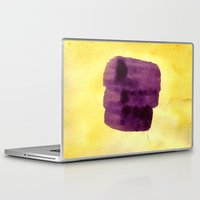 transparent Laptop & iPad Skins featuring transparent Yellow by seb mcnulty