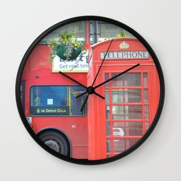 Double Decker Telephone Booth Wall Clock