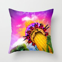 Corn & Raised Throw Pillow