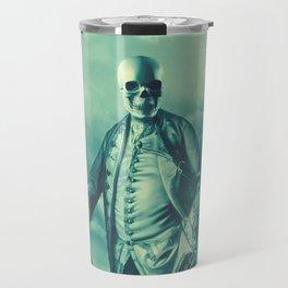 Lord Bonehead VINTAGE GREEN / Skeleton portrait Travel Mug