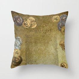 Ancient Latin Report re Roman British Isles Throw Pillow