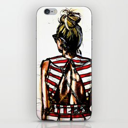 Sense of the red stripes iPhone Skin