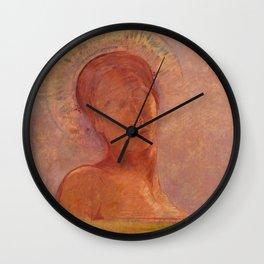 """Odilon Redon """"Closed Eyes"""" Wall Clock"""