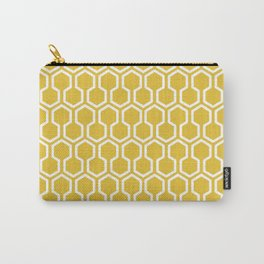 Honey Comb Pattern Yellow Carry-All Pouch