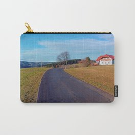 Country road, scenery and blues sky | landscape photography Carry-All Pouch
