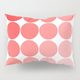 Red Circle Color Chart Pillow Sham