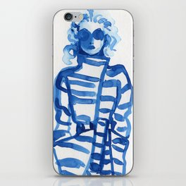 Jeanne Moreau in a Vivienne Westwood outfit iPhone Skin
